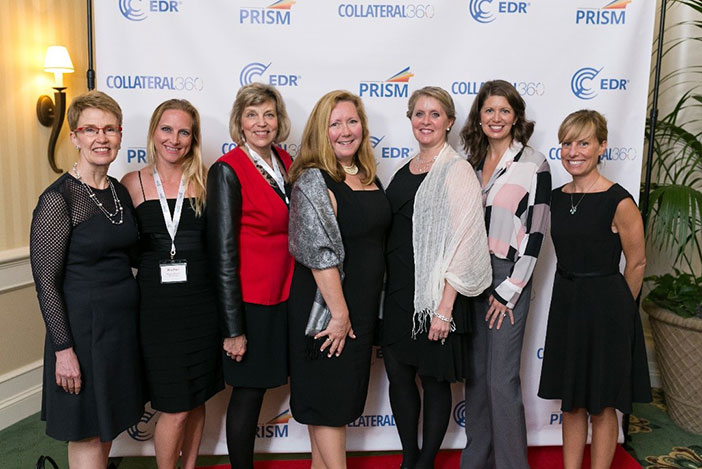 PRISM 2017 (l-r): Kenne Shepherd (CREW New York), Heather Ridgeway (CREW Atlanta), Julie Sorensen (CREW Chicago), Elizabeth Krol (CREW Boston), Dianne Crocker (CREW Boston), Diane Danielson (CREW Boston) and Holly Neber (CREW East Bay).