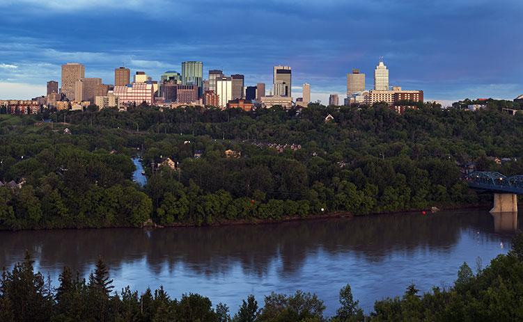 Panorama of Edmonton. Edmonton, Alberta, Canada
