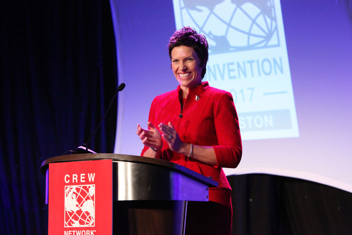 President Alison Beddard speaking at the 2017 CREW Network Convention