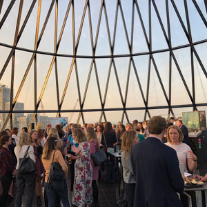 CREW Network and CREW UK event at the Gerkin