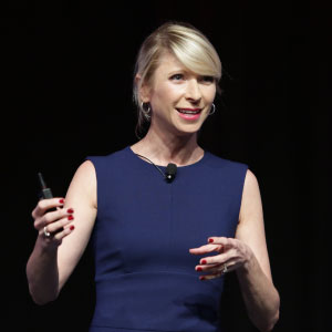 Amy Cuddy speaking at the 2016 CREW Network Convention and Marketplace