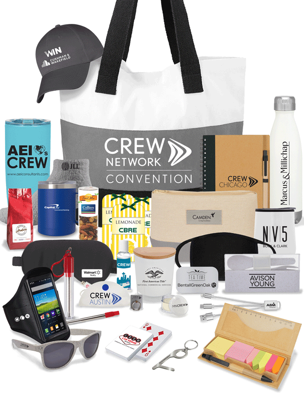 2020 CREW Network Convention swag bag