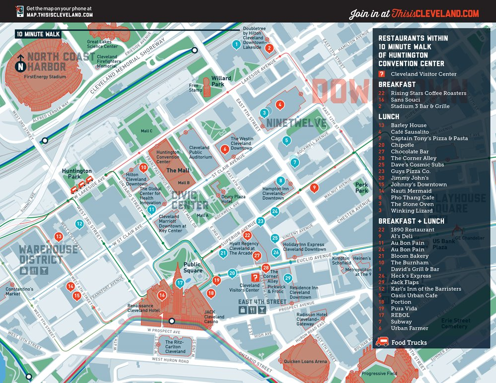 View The Nearby Restaurants And Food Trucks Listed On This Map