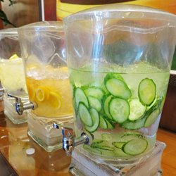 Fruit infused ice water